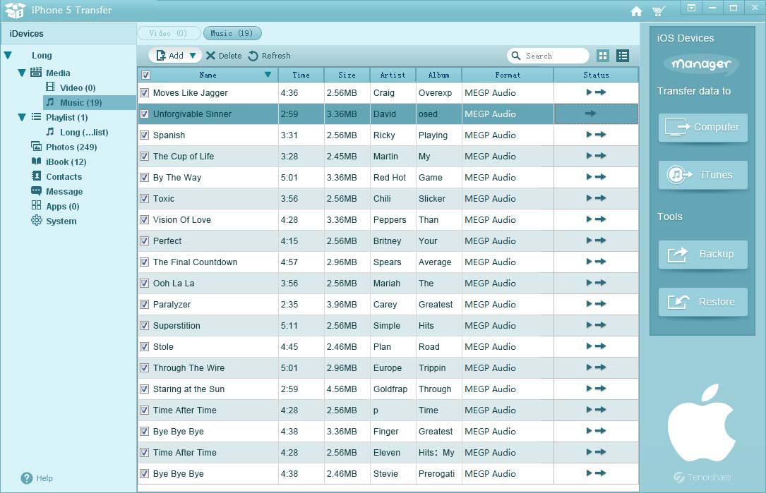 Tenorshare iAny Transfer Screenshot