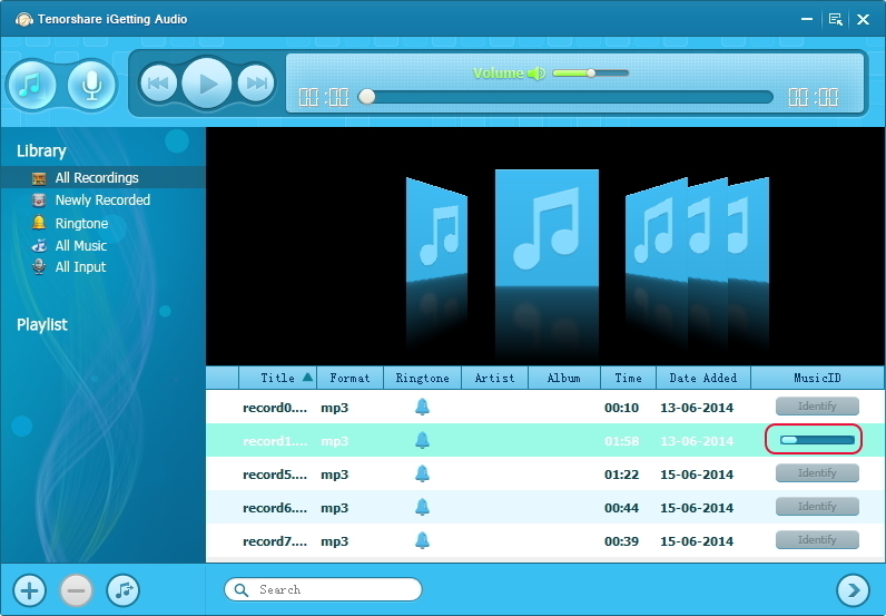 Tenorshare iGetting Audio, Audio Software, Recording Studio Software Screenshot