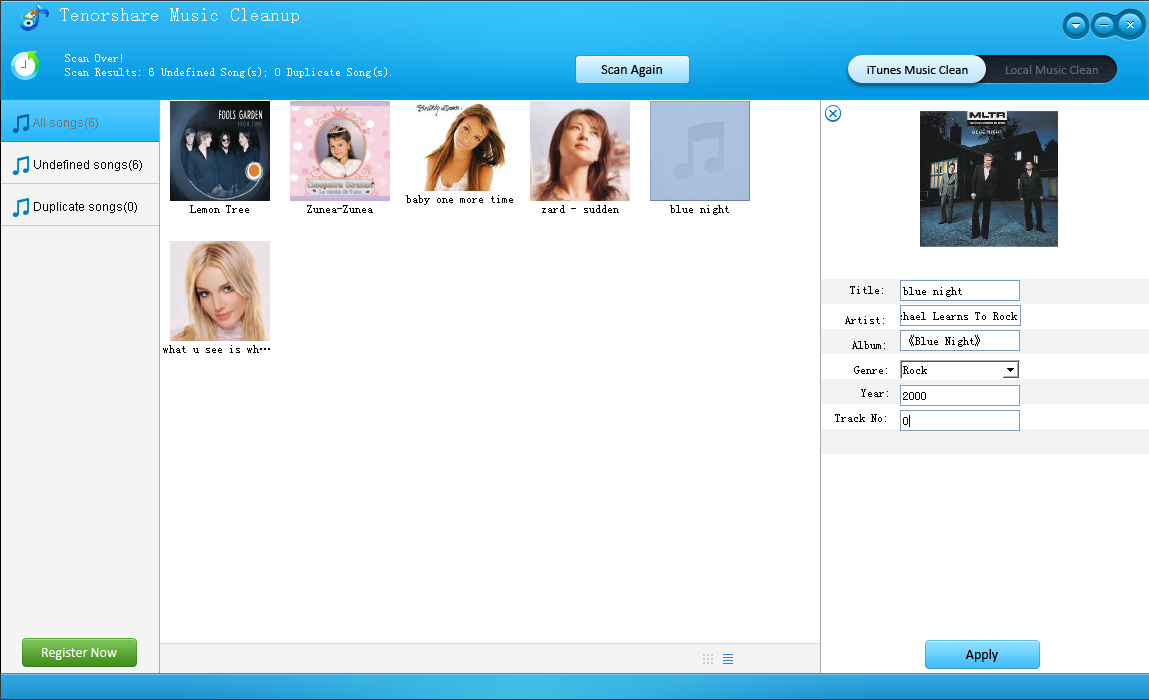 Tenorshare Music Cleanup Screenshot