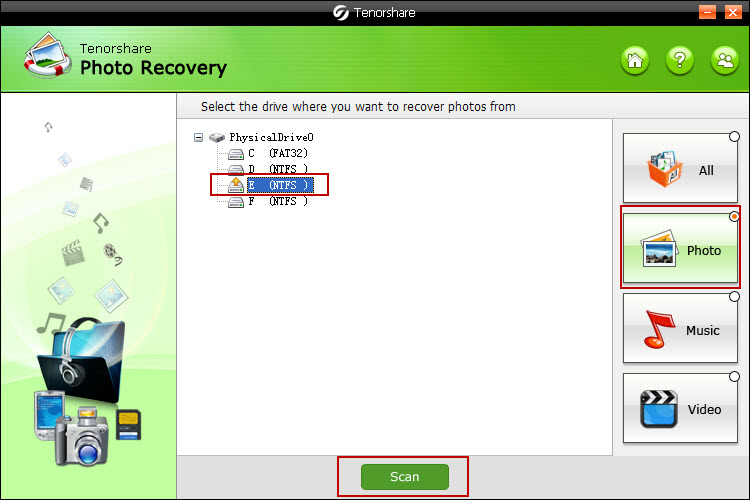 Tenorshare Photo Recovery Family Pack Screenshot