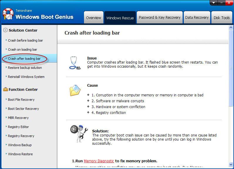 Tenorshare Windows Boot Genius, Software Utilities Screenshot
