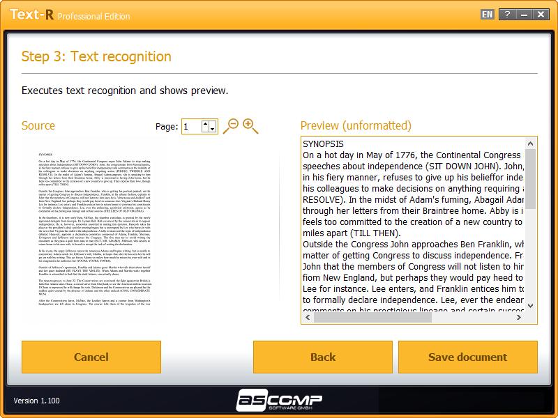 Text-R, Business & Finance Software Screenshot