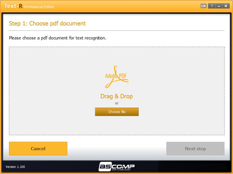 Document Conversion Software Screenshot