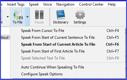 TextAloud 4, Audio Software Screenshot