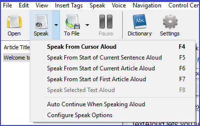TextAloud 4, Text to Speech Software Screenshot