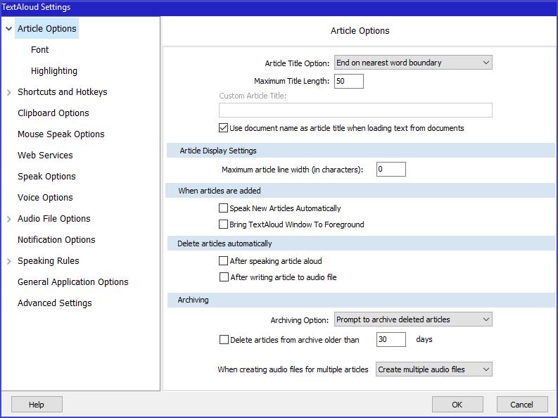 Text to Speech Software Screenshot