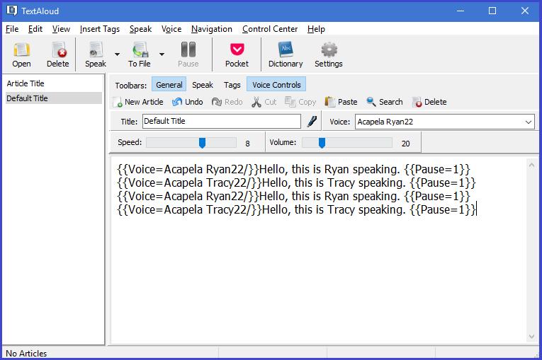 TextAloud 4 Screenshot
