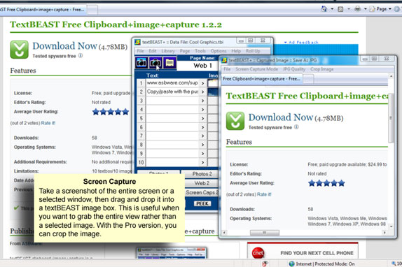Desktop Customization Software, textBEAST clipboard+image+capture Screenshot