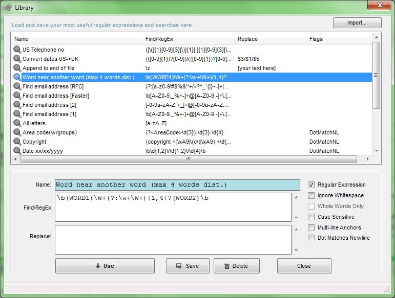 TextCrawler Pro, Development Software Screenshot
