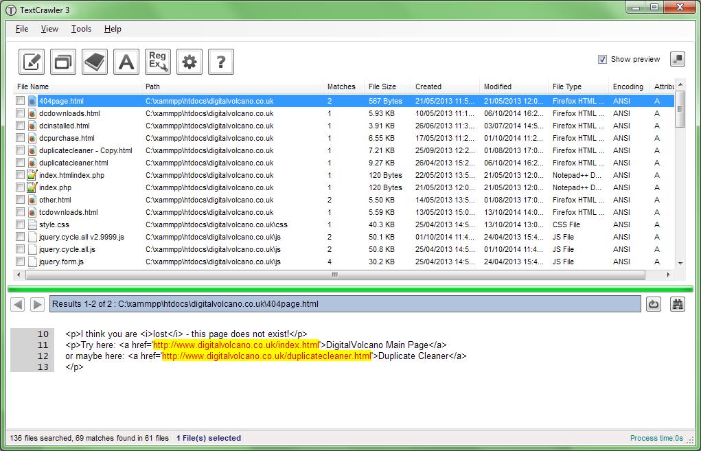 TextCrawler Pro, Development Tools Software Screenshot