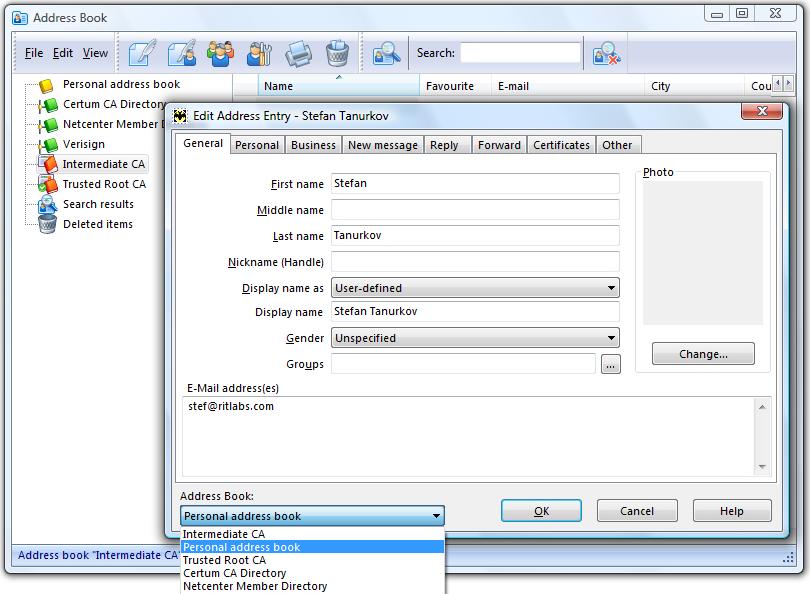 The Bat! Home Edition, Internet Software Screenshot