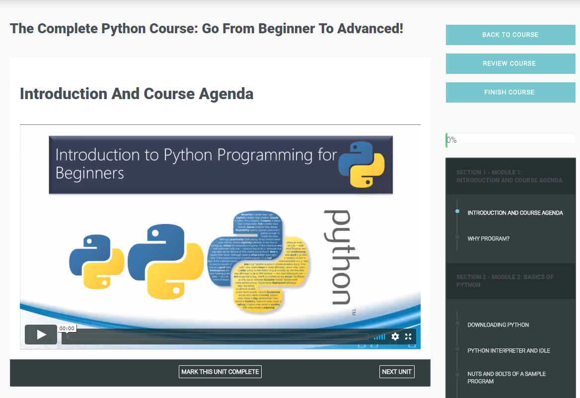 The Complete Python Course: Go From Beginner To Advanced! Screenshot