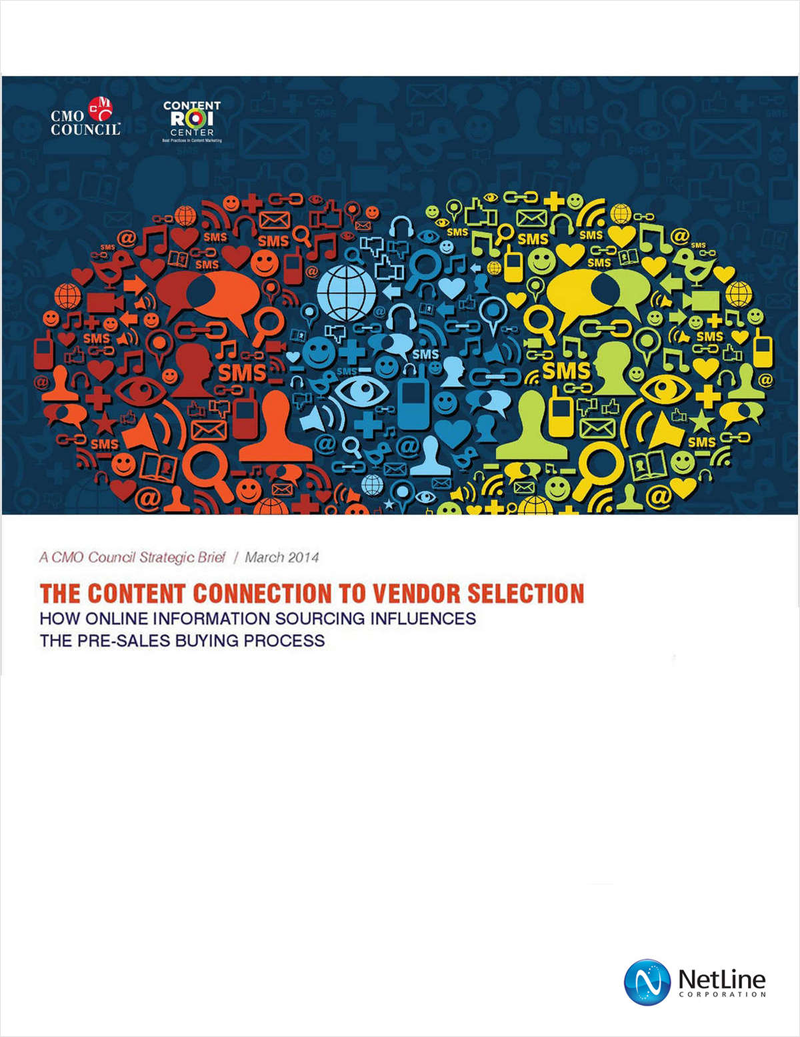 The Content Connection to Vendor Selection Screenshot