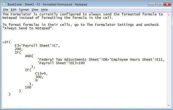 The Formulator, Business & Finance Software, Excel Add-ins Software Screenshot