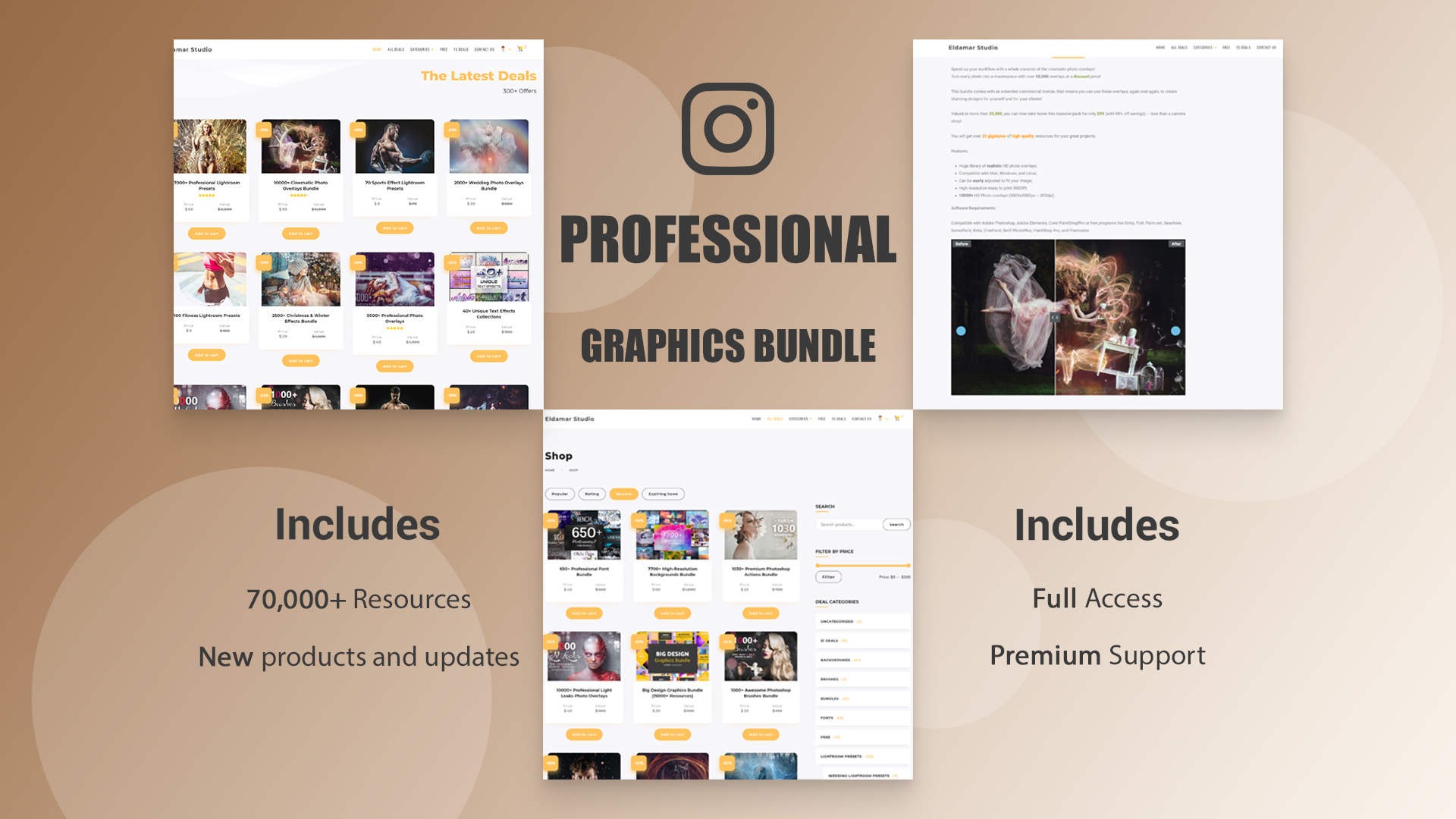 The Professional Graphic Bundle (70,000+ Resources) Screenshot