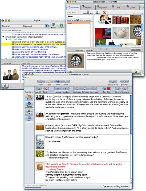ThoughtOffice Brainstorming Software Screenshot