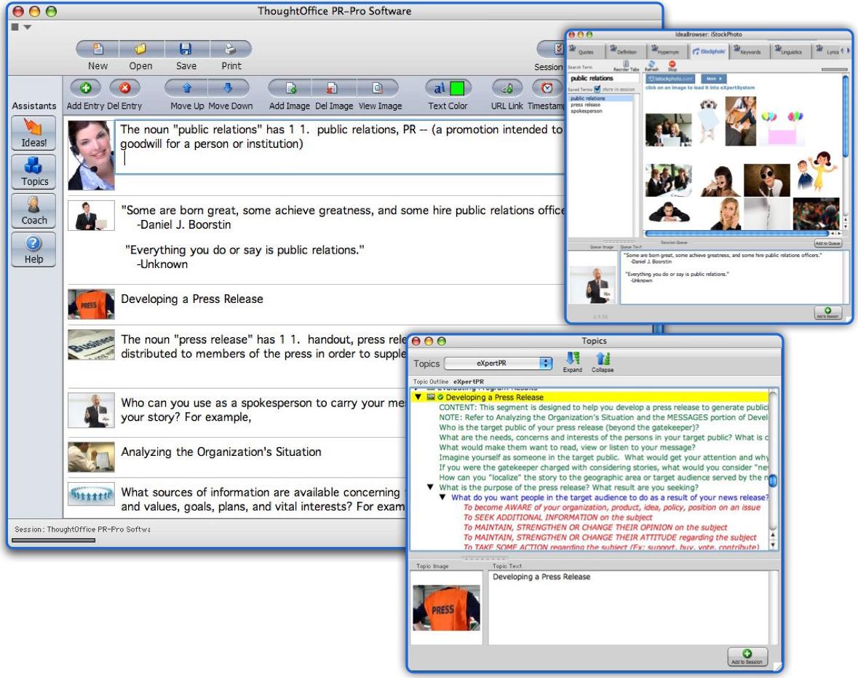 ThoughtOffice PR|Pro Software Screenshot