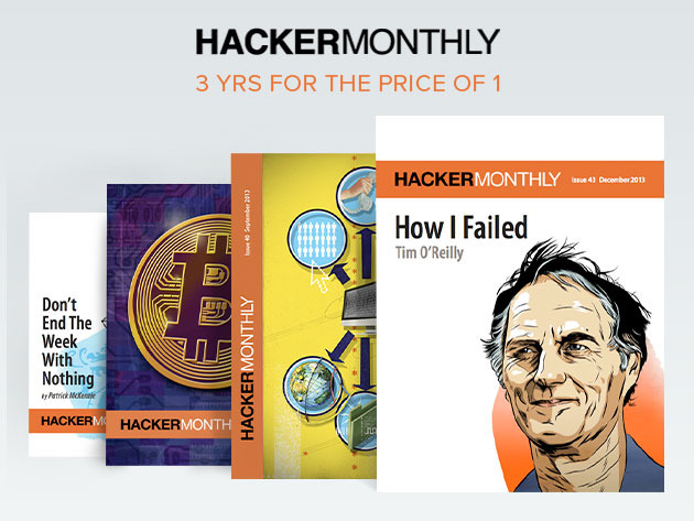 Three Years of Hacker Monthly For The Price of One (Digital Subscription) Screenshot
