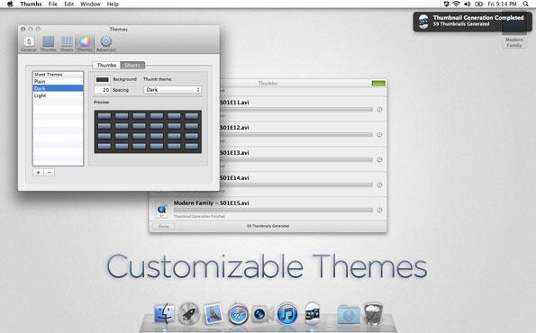 Video Software, Thumbs Screenshot