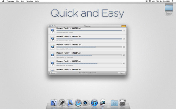Thumbs, Video Software Screenshot