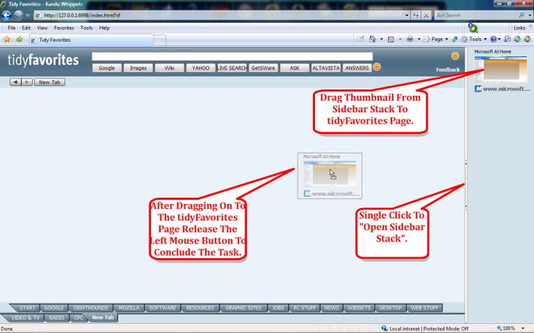Productivity Software, Tidy Favorites Screenshot