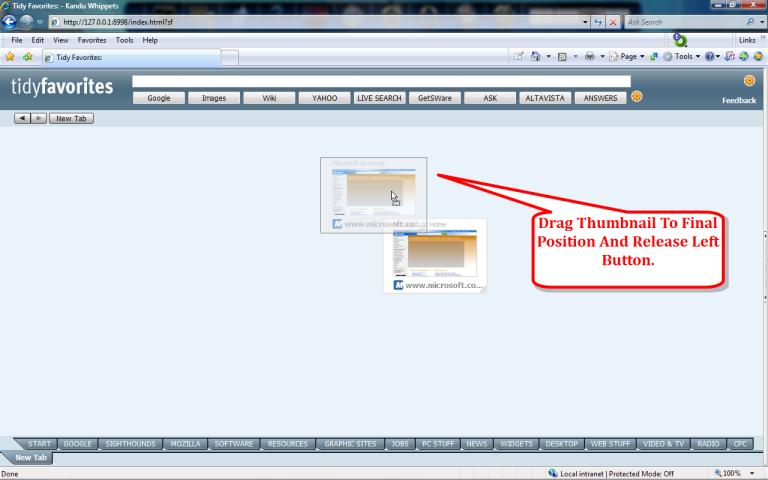 Tidy Favorites, Productivity Software, Organization Software Screenshot
