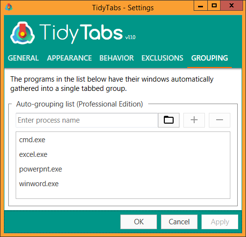 TidyTabs Screenshot