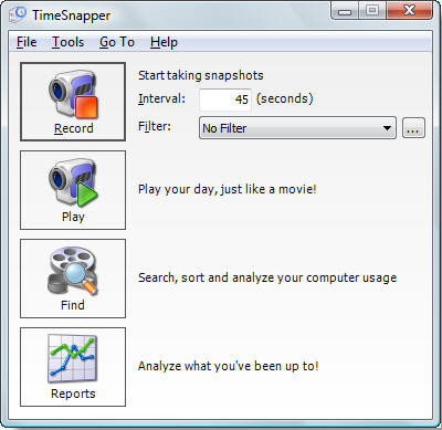 TimeSnapper Professional Screenshot