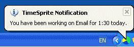 TimeSprite, Productivity Software Screenshot