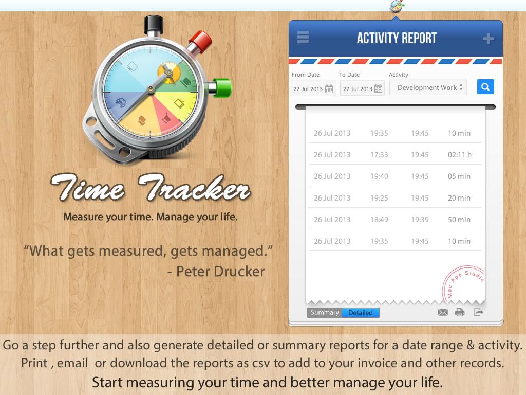 Time Tracking Software, TimeTracker Screenshot