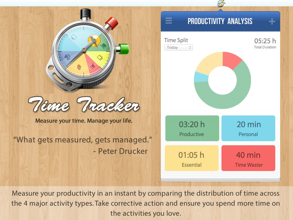 TimeTracker, Productivity Software Screenshot