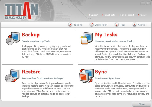 Titan Backup 2.3 Screenshot