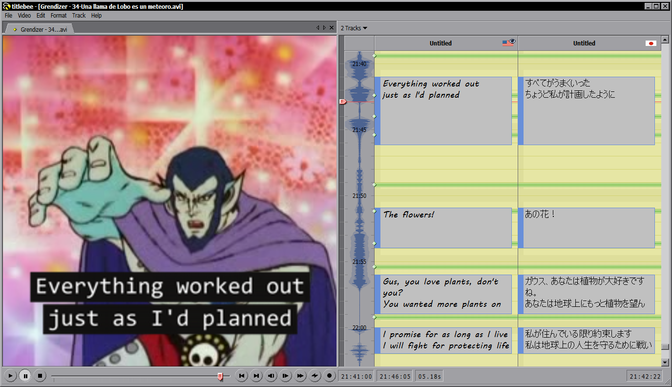 titlebee subtitling software Screenshot