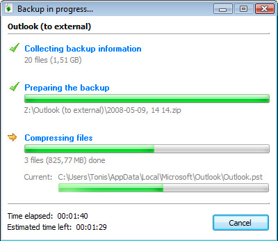 TK8 Backup Pro + Lifetime Upgrade Protection, Security Software Screenshot