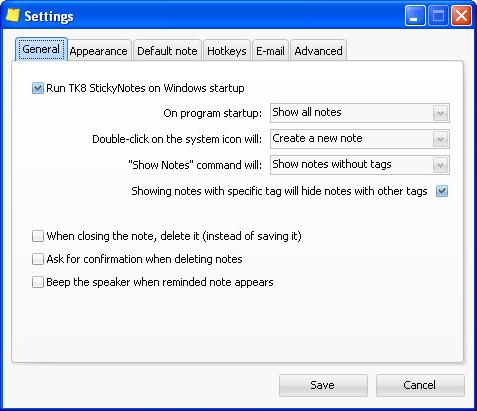 TK8 StickyNotes Pro, Productivity Software Screenshot