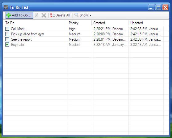 To-Do DeskList, To-Do List Software Screenshot