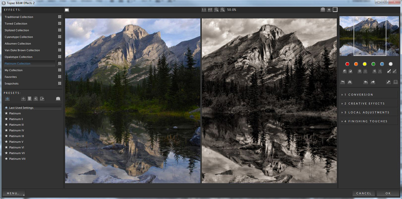 Topaz B&W Effects, Photo Editing Software Screenshot