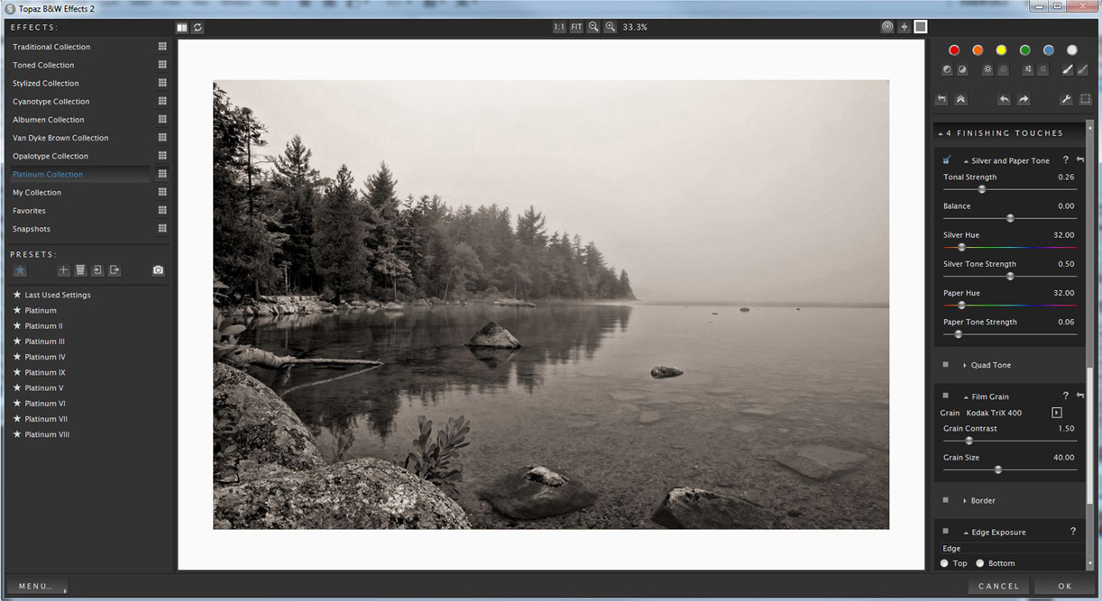 Topaz B&W Effects Screenshot