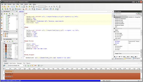TopStyle 4 Screenshot
