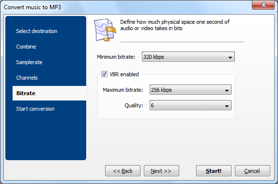 Audio Conversion Software, Total Audio Converter Screenshot