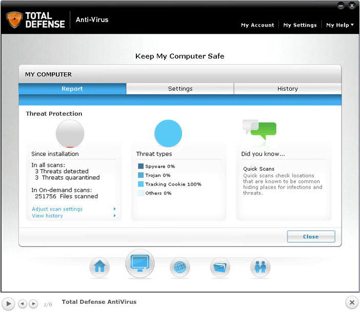 Total Defense Anti-Virus Screenshot