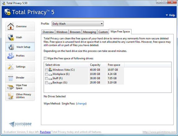 Security Software, Privacy Software Screenshot