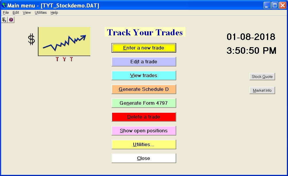 Track Your Trades Screenshot