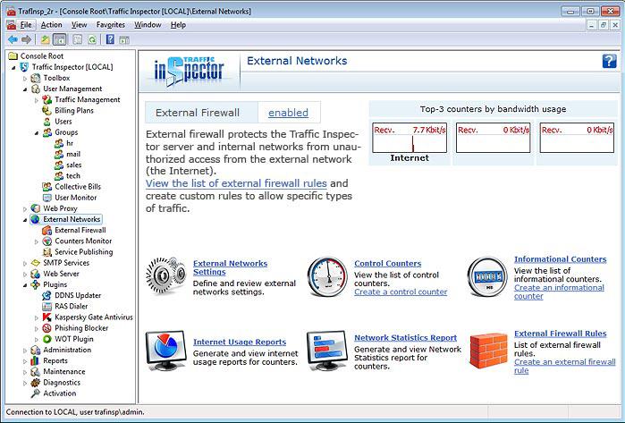 Internet Software, Traffic Inspector Screenshot