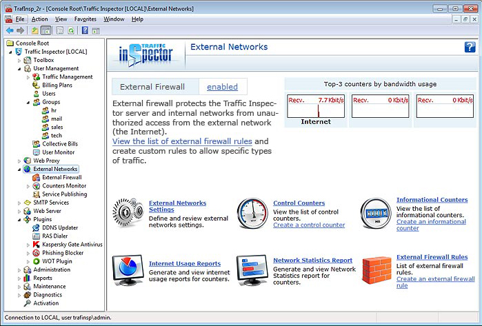 Internet Software, Traffic Inspector Gold Screenshot