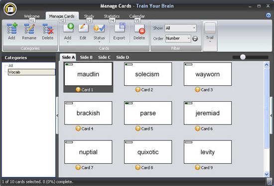 Train Your Brain, Educational Software Screenshot