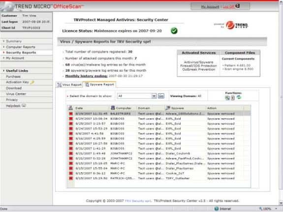 Trend Micro OfficeScan Corporate Edition, Security Software, Antivirus Software Screenshot