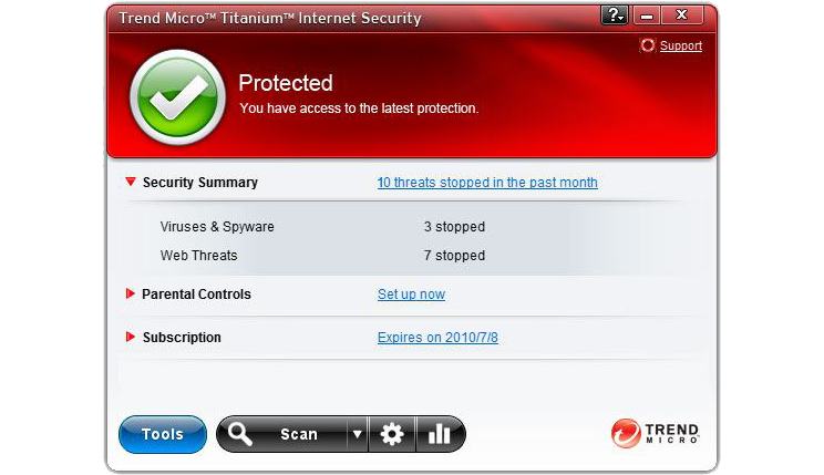 Trend Micro Titanium Maximum Security Screenshot