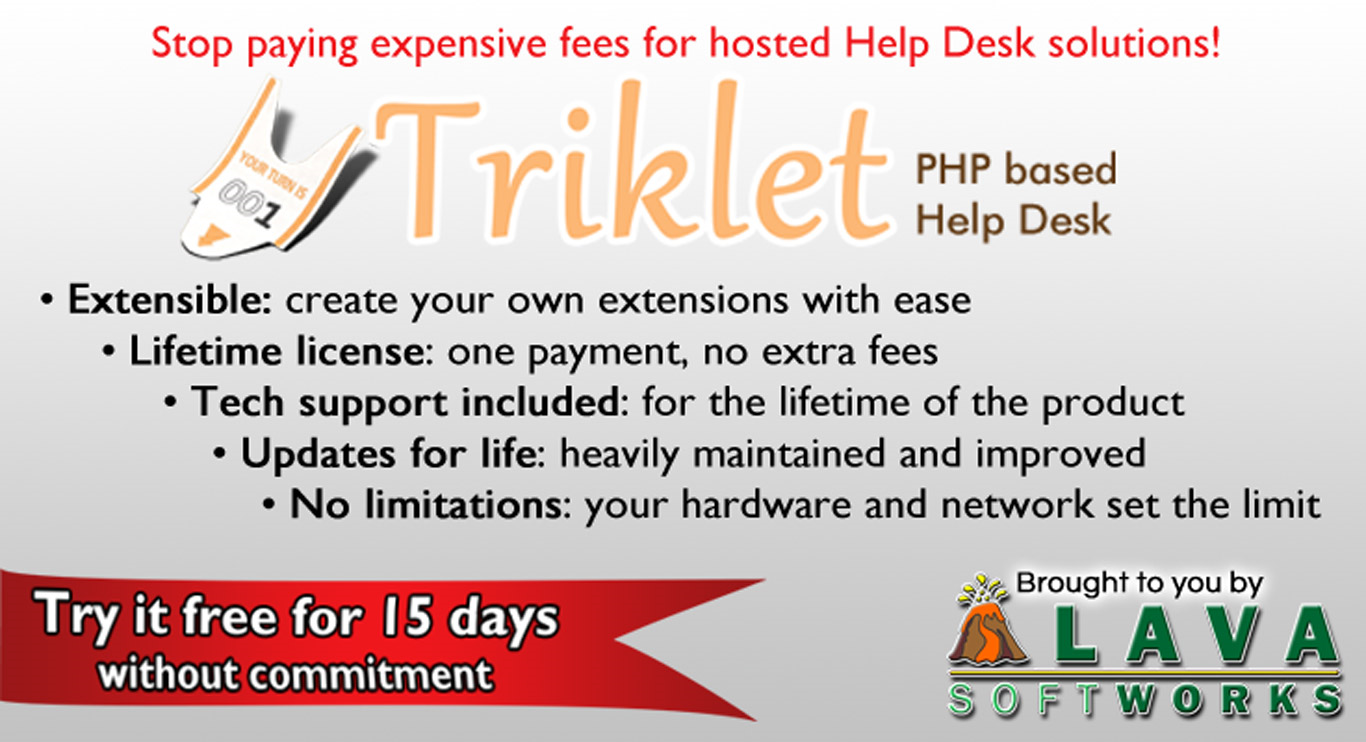 Contact Management Software, Triklet Screenshot