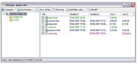 TSW WebCoder 2007 + SiteSync Screenshot 10